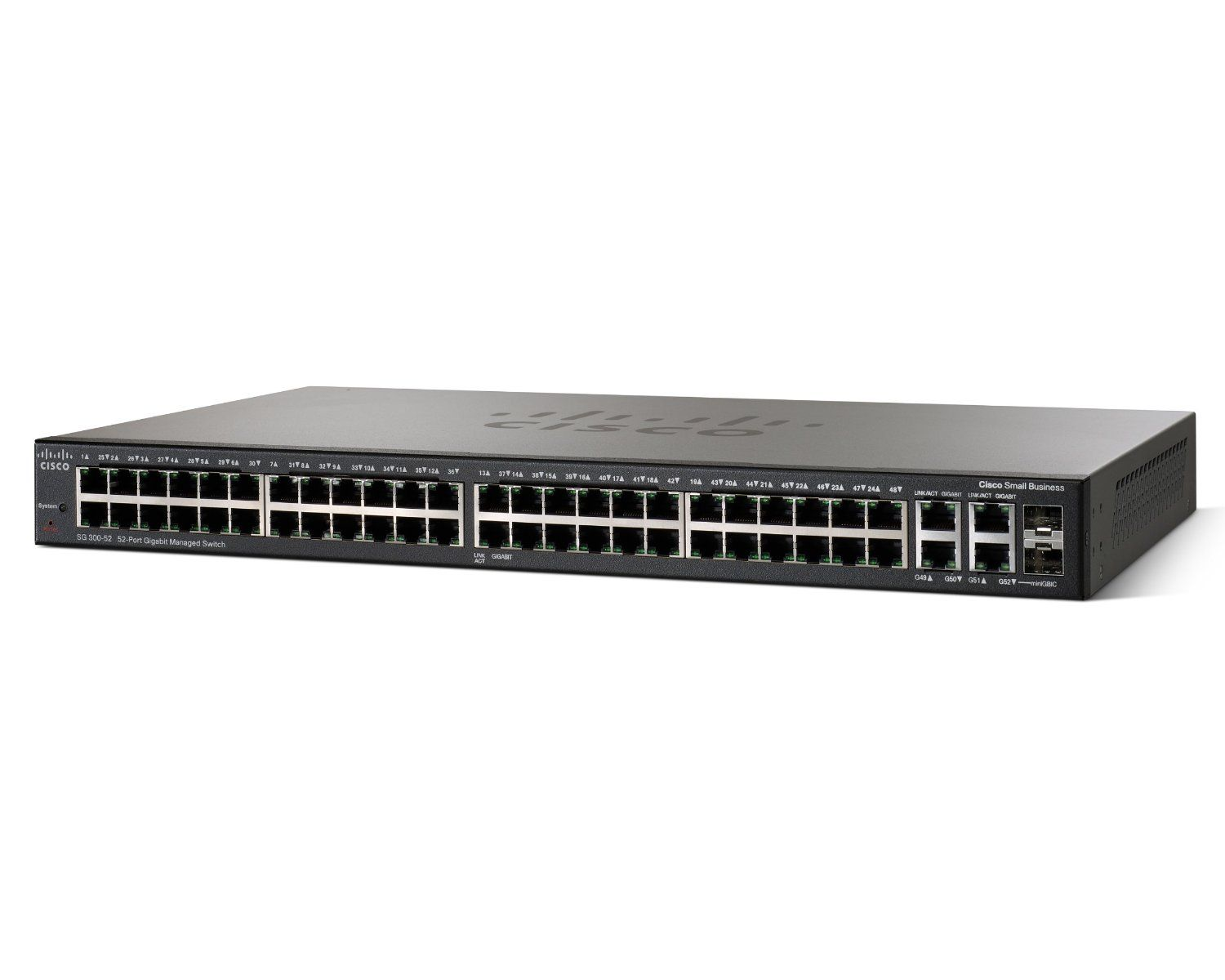 SRW2048-K9-NA Cisco SG 300-50 50-port Gigabit Managed Switch