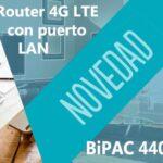 BiPAC 4400CRL-M Router 4G LTE puerto LAN Banner Techniservice