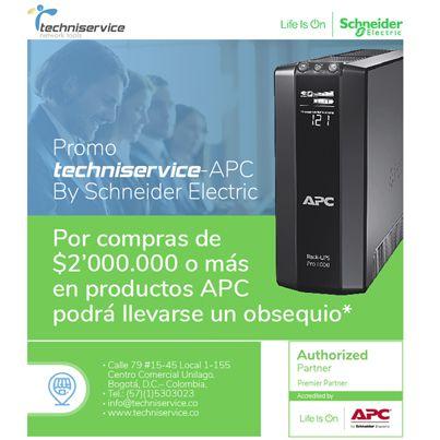 Promoción Techniservice APC UPS Colombia Obsequio Router Linksys