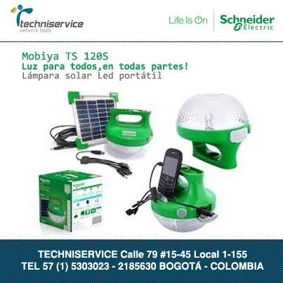 Mobiya TS 120S Lampara Solar recargable Schneider Electric