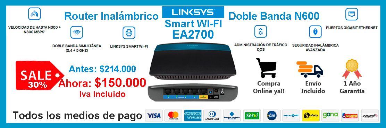 Promoción Linksys EA2700 Tienda Online Techniservice